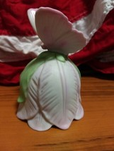 Vtg.1984 Lefton China Hand Painted Pink Butterfly #01113 Porcelain Bell (G34) - $17.82