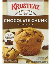 Krusteaz Chocolate Chunk Muffin Mix - No Artificial Flavors/Preservatives - 18.2