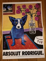 Absolut Rodrigue Original Magazine Ad - $3.99