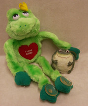 Russ Clinging Critters Green Frog w/ Tag & Figurine Fat Bumpy Toad  Lot ... - £12.04 GBP