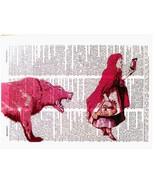 Art N Words Red Riding Hood Selfie Original Dictionary Page Pop Art Print - $21.00