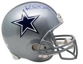 Michael Irvin Dallas Cowboys Signed Full Size Silver Rep Helmet JSA - $396.98