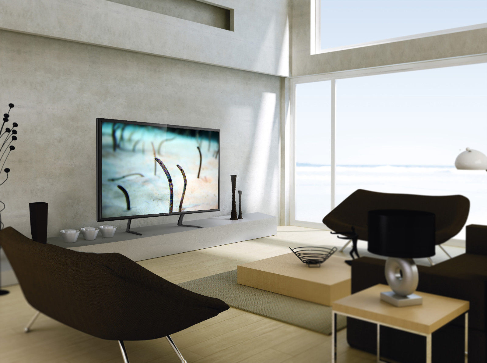 Universal Table Top TV Stand Legs for LG 55LF6090 Height Adjustable