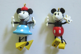 Mickey and Minnie Mouse Miniature Ornament Hallmark Keepsake Collectors 2000 New - $17.97