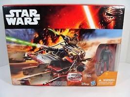 STAR WARS THE FORCE AWAKENS DESERT LANDSPEEDER W/JAKKU FINN FIGURE NEW! - $29.69