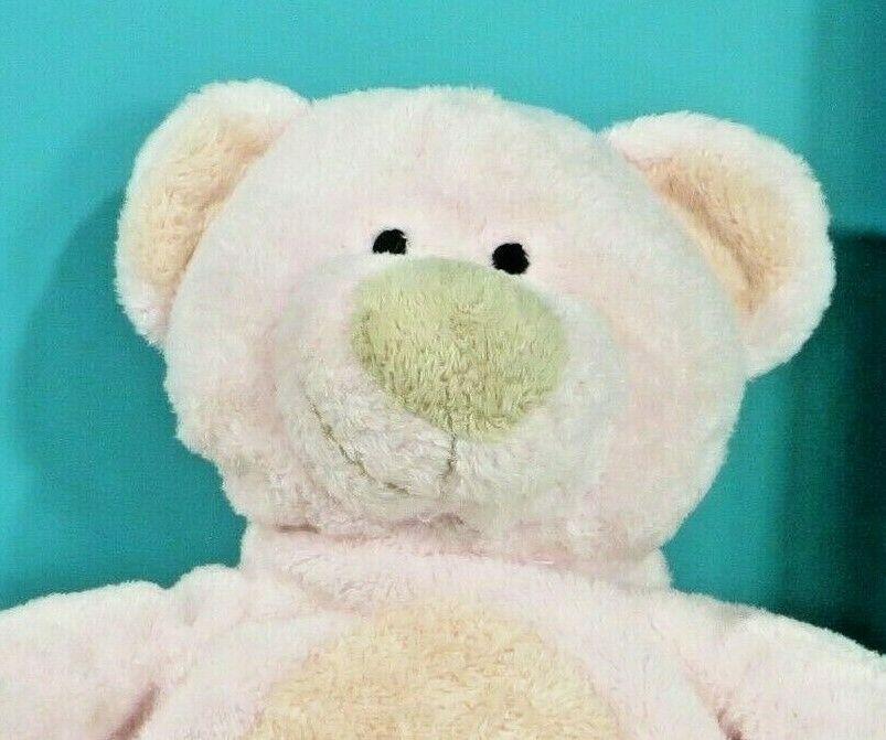 "Ty Pluffies Pinks Teddy Bear 9"" Plush Pink Peach Stuffed Animal Baby Lovey 2002 image 3"