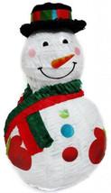 Jolly Snowman Pinata w/Black Hat - $13.69