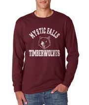 Mystic Falls Timberwolves Longsleeve Men Maroon - $21.00