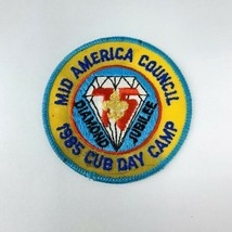 Vtg BSA Boy Scout Patch Mid America Council Diamond Jubilee 1985 Cub Day Camp - $19.00