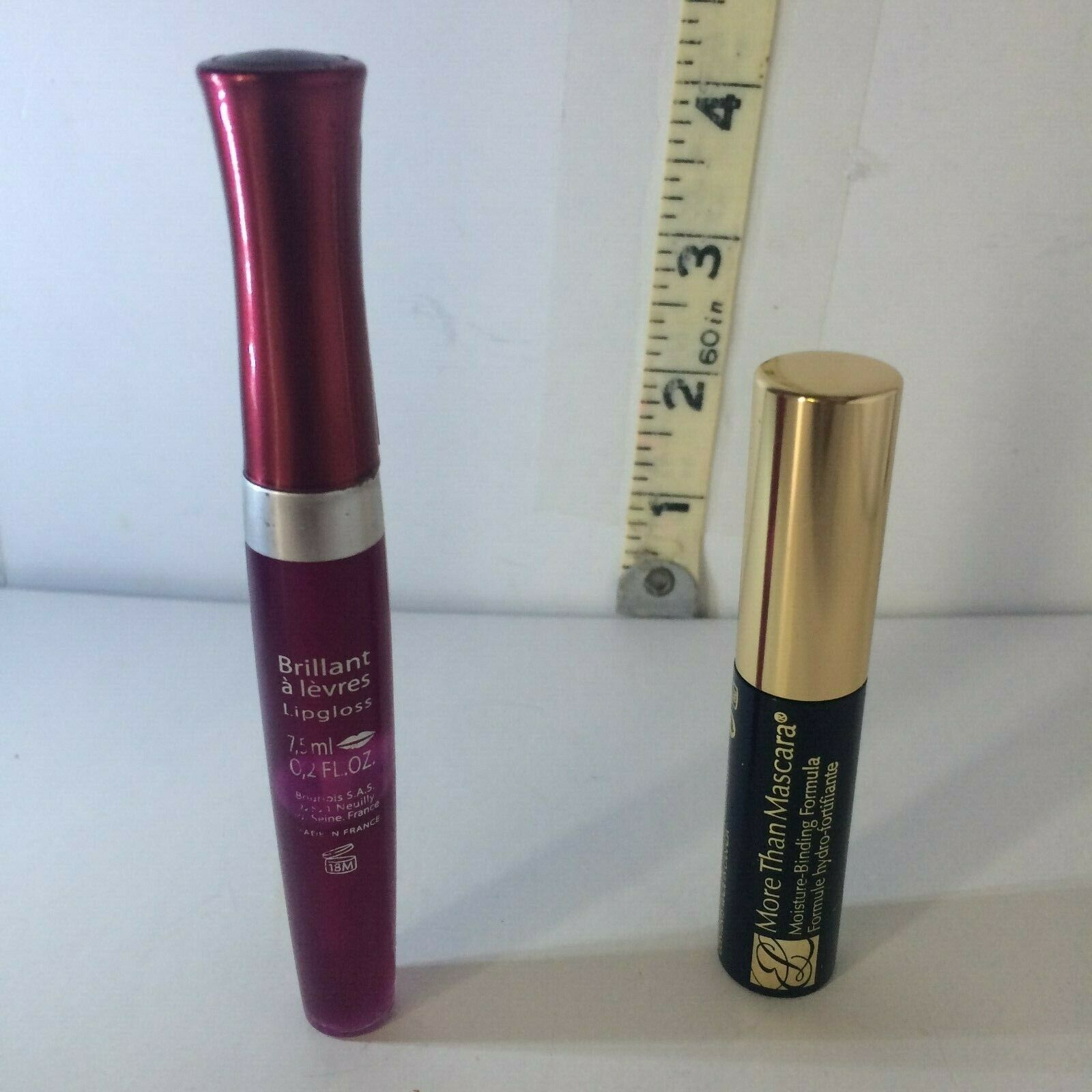Primary image for Lot of 2 Bourjois Paris Effet 3D,  #26 Lip Gloss +Estee Lauder Black Mascara