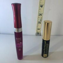 Lot of 2 Bourjois Paris Effet 3D,  #26 Lip Gloss +Estee Lauder Black Mas... - $6.62