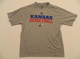 M91 New Kansas Jayhawks Basketball Grey Climalite Athletic Jersey Shirt Tee T - $12.95