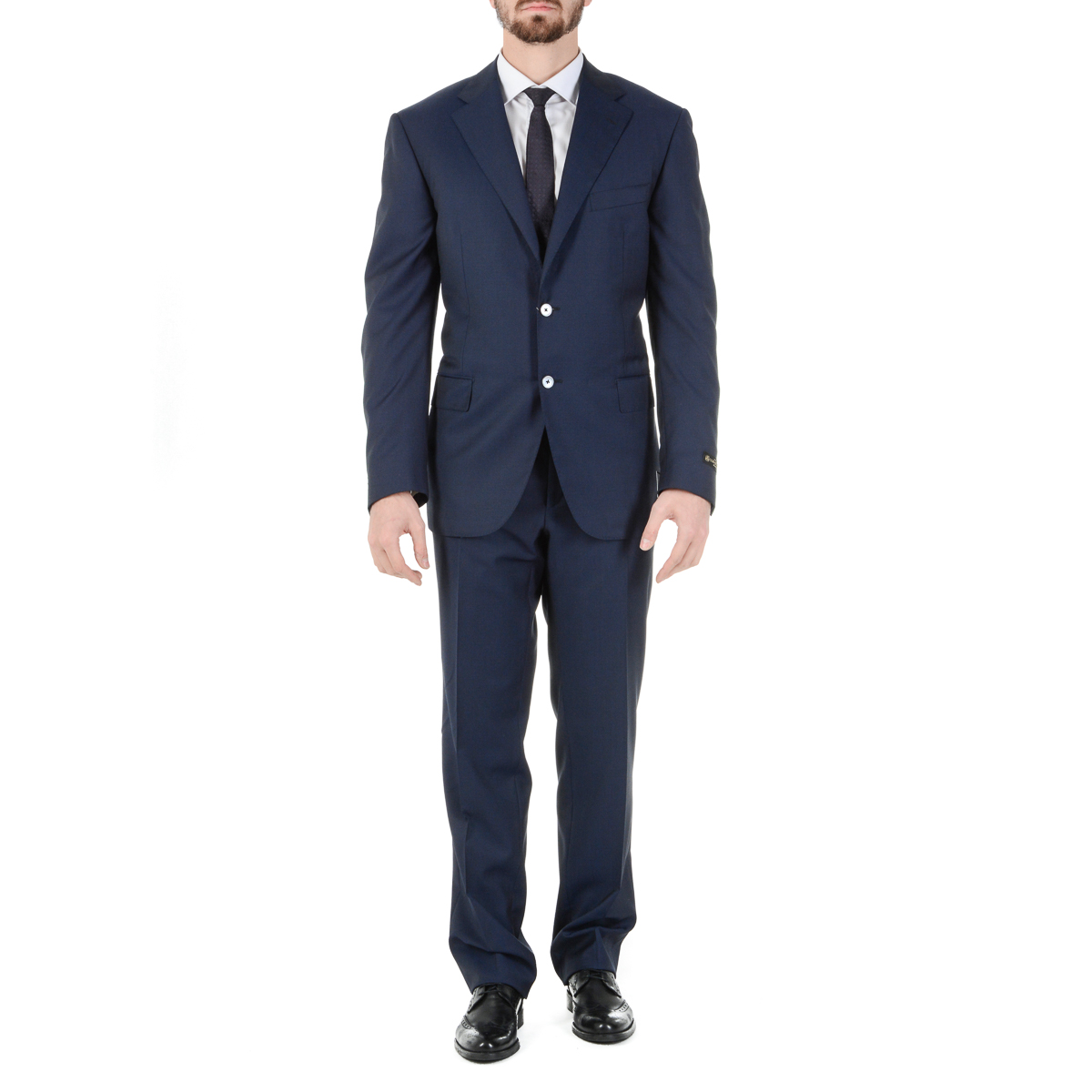 Primary image for Corneliani Mens Suit Long Sleeves Dark Blue Super 130's