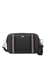 Michael Kors Tricolor leather Camera MIni Bag Signature black grey silver  - $89.00