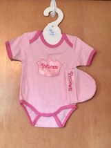 Baby Girl's Princess Onesie & Hat Set 0-6 Months - $15.00