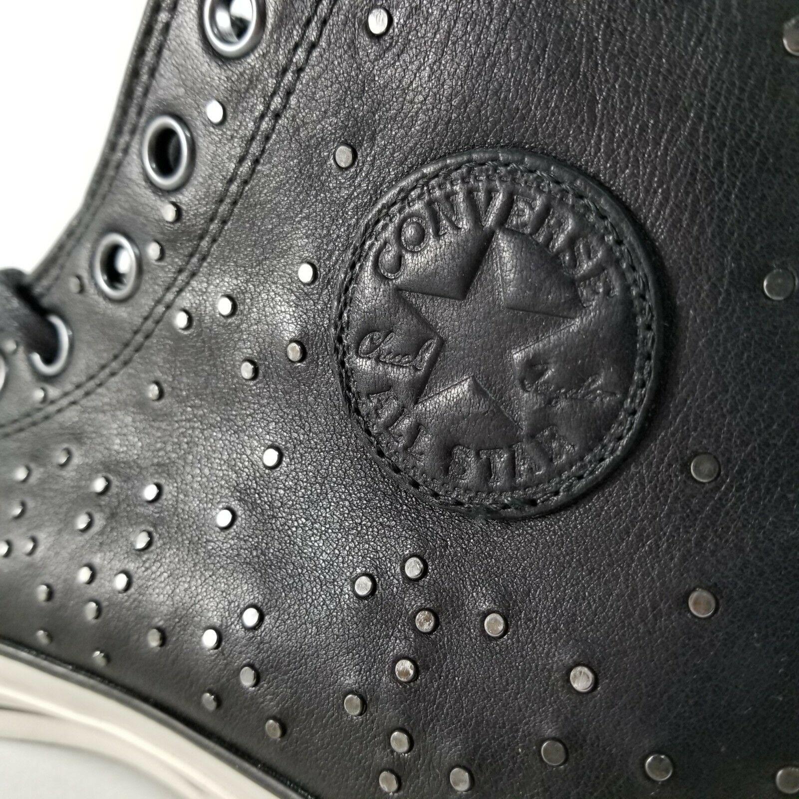 Converse X John Varvatos CTAS Mini Stud Hi Shoes Size 10.5 Mens Sneakers Black