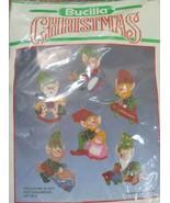 Bucilla Christmas Toy Making Elves Felt Ornaments Set of 5 - $19.79