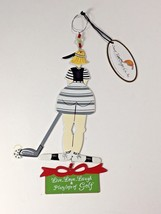 Wine Bottle Charm Live Love Laugh Play Lots of Golf by Sunset Vista Designs - $15.95
