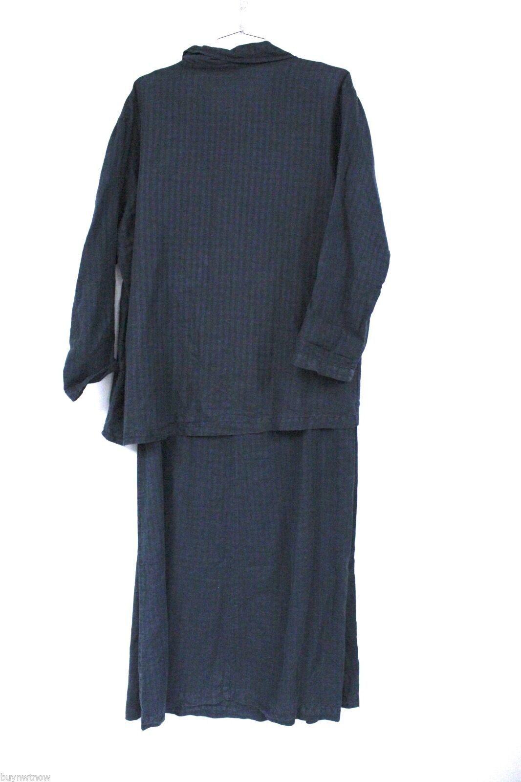 Fresh Produce Tank Maxi Dress & Jacket Blouse Top Black Windowpane Print  M image 3