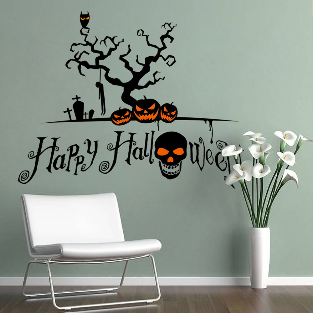 halloween home decoration wall stickers diy removable diy toilet seat wall sticker decals vinyl art removable