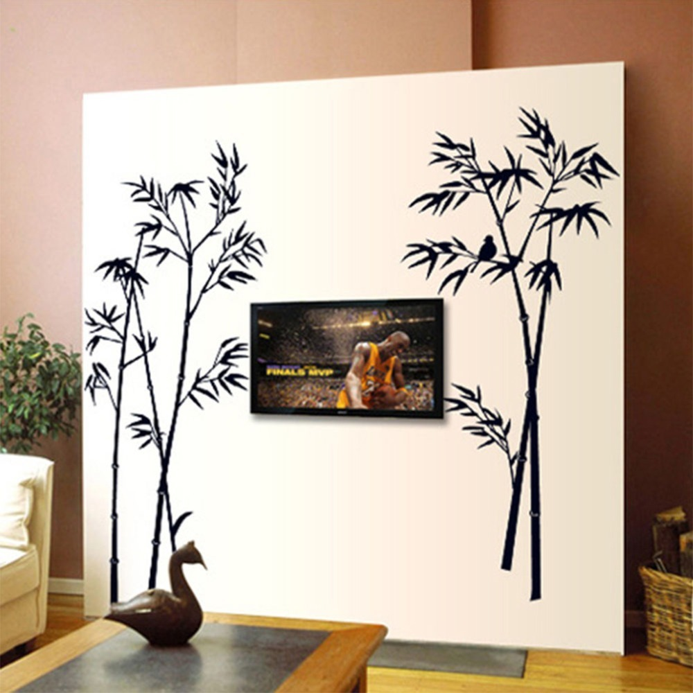 bamboo diy removable art vinyl wall sticker decal mural home room decor decals stickers. Black Bedroom Furniture Sets. Home Design Ideas
