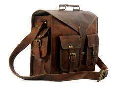 Men Genuine Leather Messenger Bags Handbag Vintage Business Briefcase Laptop image 2