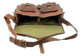 Men Genuine Leather Messenger Bags Handbag Vintage Business Briefcase Laptop image 4