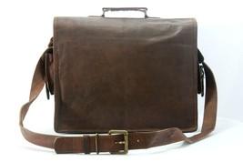 Men Genuine Leather Messenger Bags Handbag Vintage Business Briefcase Laptop image 3