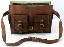 Men Genuine Leather Messenger Bags Handbag Vintage Business Briefcase Laptop image 5