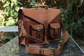 Men Genuine Leather Messenger Bags Handbag Vintage Business Briefcase Laptop image 6