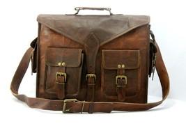 Men Genuine Leather Messenger Bags Handbag Vintage Business Briefcase Laptop image 7