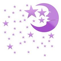 2016 popular new mirror effect fashion wall sticker stars moon home wall decor diy art thumb200