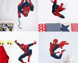 4 designs HERO Spiderman Cartoon Movie kids room decal wall sticker boy birthday