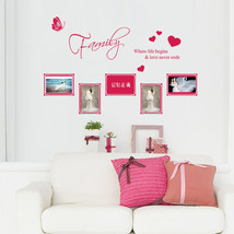 Family Butterfly Heart Photo Frame Wall Stickers Mural Wall Sticker Livi... - €8,89 EUR
