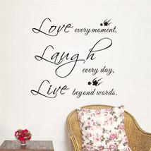 Bless quote words Love Laugh Live black stars D... - $9.77
