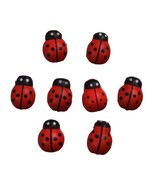Mm wood ladybug stickers craft 3d refrigerator stickers wall sticker home decor kawaii thumbtall