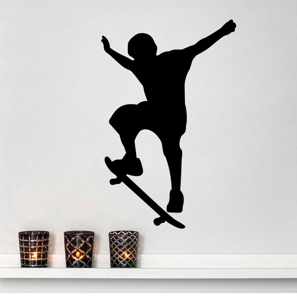 skate sport x games maximal wall sticker mural decal cabinet door window paster decals. Black Bedroom Furniture Sets. Home Design Ideas