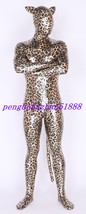 New Shiny Metallic Multicolor Leopard Suit Catsuit Costumes Halloween Suit S323 - $49.99