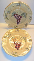Meritage Tuscan Grape Salad Plate (2) Noble Excellence Scalloped Grapes - $18.00
