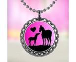 Horse lover 3 bottle cap necklace thumb155 crop