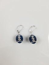 swarovski crystal football earring, Dallas Cowboy, Sterling Silver lever... - $39.99