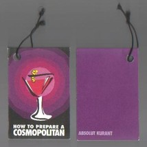 ABSOLUT MARTINI Cocktail Recipe Table Display Box w/ 12 Recipes - $9.99