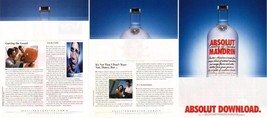 Absolut Download 3 Page Spectacular Vodka Magazine Ad Very Rare! - $24.99