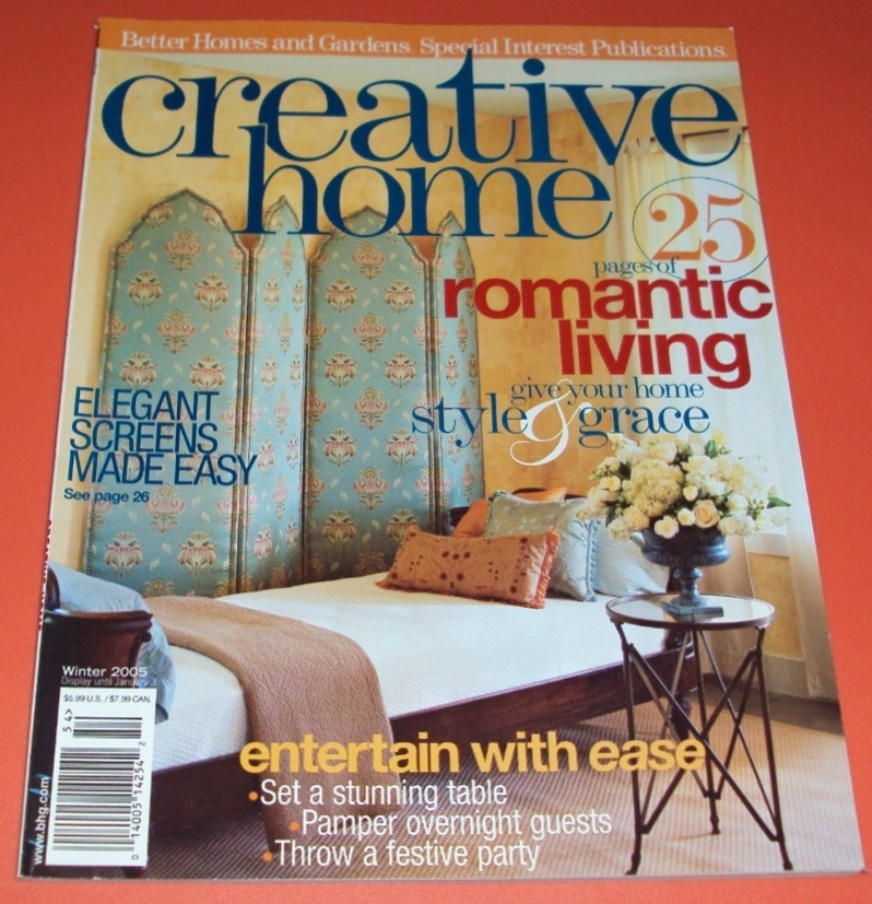 Creative Home Décor Better Homes & Gardens 2005 Back Issues Winter Publication