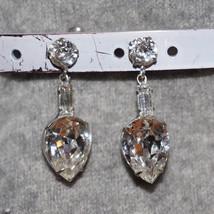 Stunning Vintage Rhinestone Drop Earrings Bridal Formal Wedding - $40.00