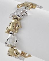 Two Tone Horse Equestrian Western Stretch Bracelet - $17.99