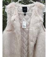 Vegan Longline Soft Fur Fully Lined Vest. Truly Beautiful. Cream  Size S/M - $50.00