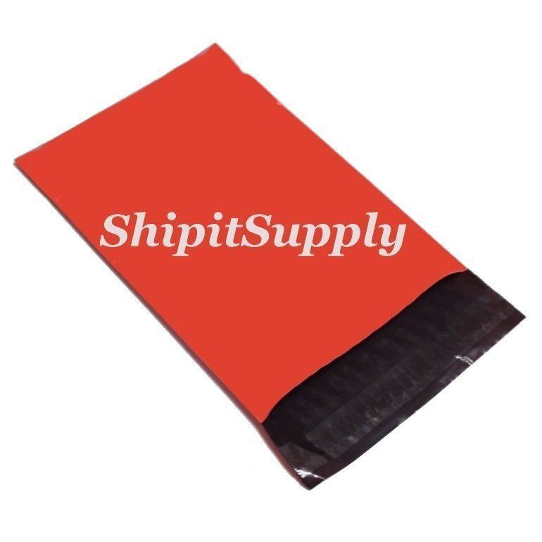 2.5 Mil 1-1000 6x9 ( Red ) Color Poly Mailers Shipping Boutique Bags