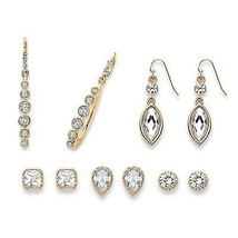 PalmBeach Jewelry Multi-Cut Crystal Gold Tone 5... - $30.95
