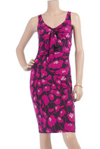 DIANE von FURSTENBERG ST KITTS STRANGE FLOWER PURPLE DRESS - US 10 - UK 14 - $127.57